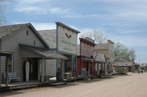 The main street at Old Cowtown, Wichita, KS