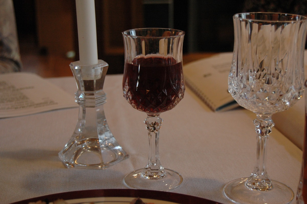 My cup of juice from the Seder Meal, Andover, KS