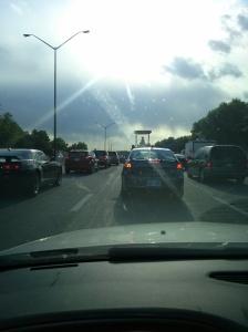 The view from my dashboard on Kellogg yesterday, Wichita, KS