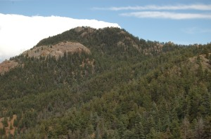 A mountain on the hike to Helen Hunt Falls, Colorado Springs, CO