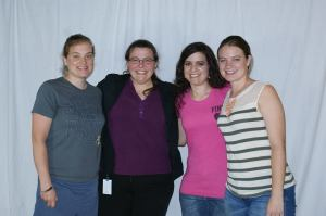 Me with my amazing, beautiful sisters--Jessica Hoover, Kristina Buller, and Katie Morford