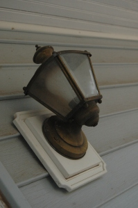 The front porch light at Safe Haven Farm, Haven, KS