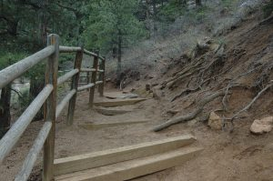 The trail at Helen Hunt Falls, Colorado Springs, CO