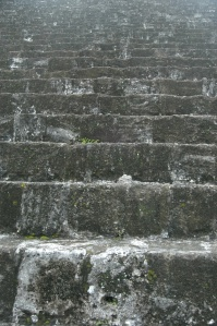 Stone steps of Temple IV at the Mayan Ruins, Tikal, Peten, Guatemala