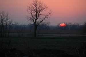 Sunset at Safe Haven Farm, Haven, KS