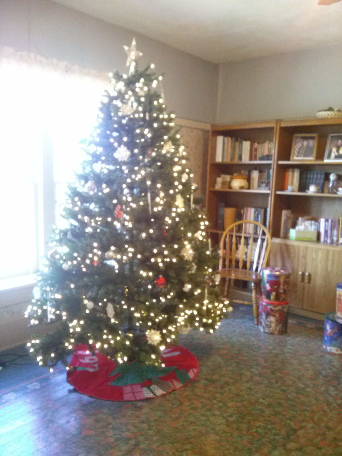 The fancy Christmas tree at Safe Haven Farm, Haven, KS