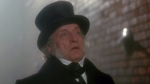Ebenezer Scrooge (George C. Scott) from Dickens' A Christmas Carol