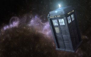 The TARDIS (Time And Relative Dimension In Space) from BBC's Doctor Who