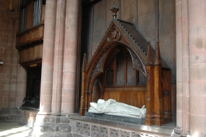 A tomb in Carlisle, Cathedral