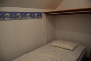 The second floor guest bedroom (aka my old closet) at Safe Haven Farm, Haven, KS