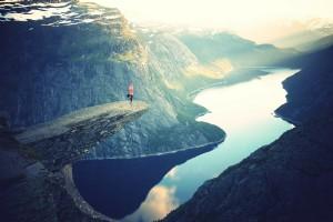 woman-cliff-balance-yoga